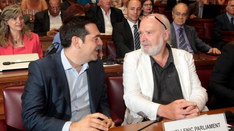 Αλέξης Τσίπρας και Ερίκ Τουσέν (Φωτό: ΑΠΕ).