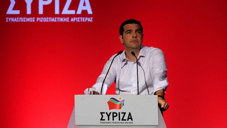 Ο πρωθυπουργός και πρόεδρος του ΣΥΡΙΖΑ Αλέξης Τσίπρας στο βήμα της Κεντρικής Επιτροπής του κόμματος, Αθήνα, Πέμπτη 30 Ιουλίου 2015. (Φωτό:  ΑΠΕ-ΜΠΕ/ΟΡΕΣΤΗΣ ΠΑΝΑΓΙΩΤΟΥ).