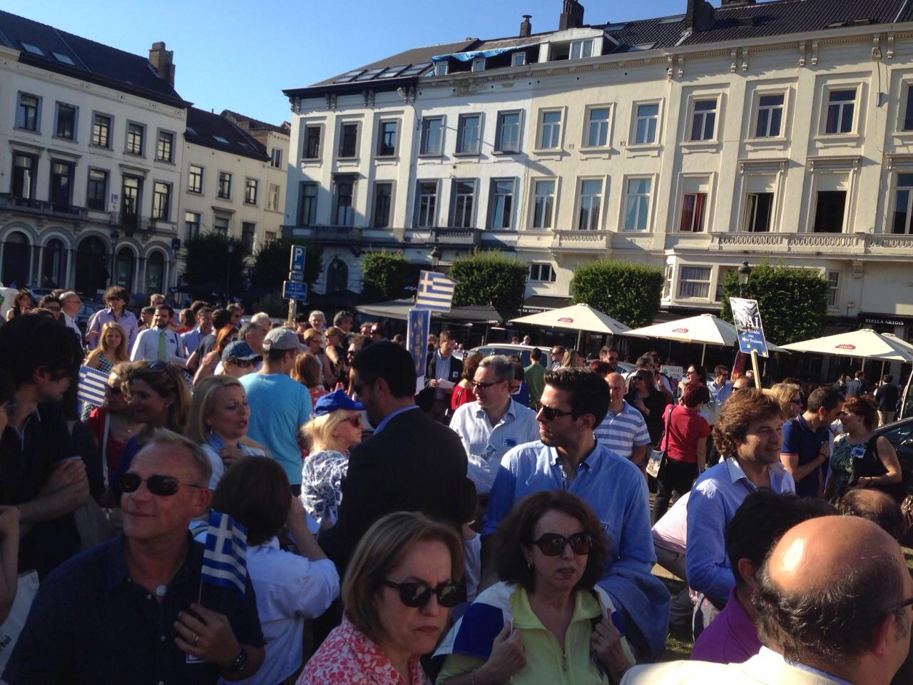 Μεγάλη διαδήλωση στο Βέλγιο υπέρ του Ναι