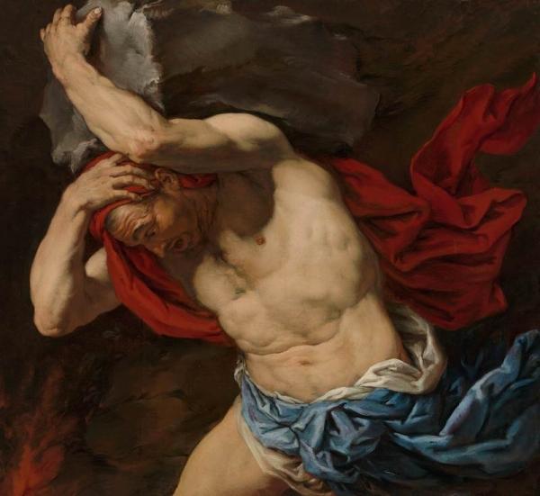 Ο πίνακας που συνοδεύει το κείμενο είναι: Αntonio Ζanchi (1631 –1722), Sisyphus