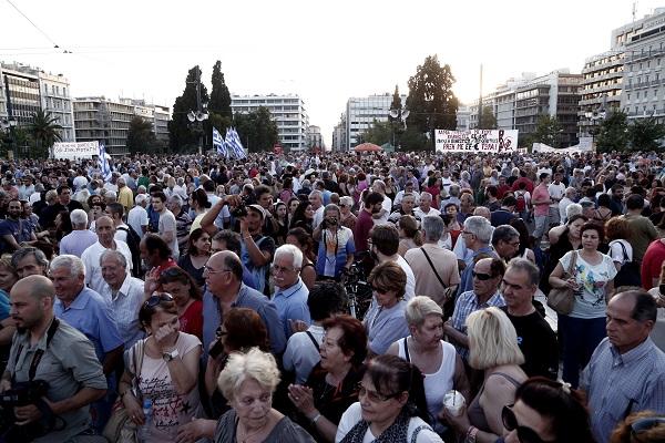 Protest rally against austerity / ÓõãêÝíôñùóç êáôÜ ôçò ëéôüôçôáò