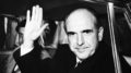 AMSTERDAM, NETHERLANDS - APRIL 24: Andreas Papandreou during his exile in Amsterdam, Netherlands, on April 24, 1968. (Photo by Keystone-France/Gamma-Rapho via Getty Images)