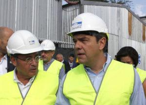 """Ο πρωθυπουργός Αλέξης Τσίπρας επισκέφτηκε το σταθμό του υπό κατασκευή μετρό, στη Νέα Ελβετία Θεσσαλονίκης και ενημερώθηκε για την πορεία των έργων από τον πρόεδρο της Αττικό Μετρό Ιωάννη Μυλόπουλο, Σάββατο 10 Σεπτεμβρίου 2016. Ο πρωθυπουργός, το βράδυ θα μιλήσει προς τους εκπροσώπους των παραγωγικών φορέων, εγκαινιάζοντας την 81η Διεθνή Έκθεση Θεσσαλονίκης, στο συνεδριακό κέντρο """"Ι. Βελλίδης"""". ΑΠΕ-ΜΠΕ/ΑΠΕ-ΜΠΕ/ΝΙΚΟΣ ΑΡΒΑΝΙΤΙΔΗΣ"""