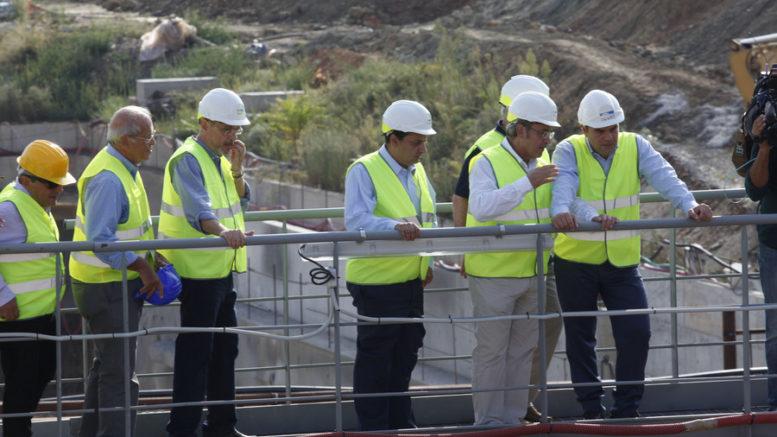 Ο πρωθυπουργός Αλέξης Τσίπρας στο σταθμό του υπό κατασκευή μετρό, στη Νέα Ελβετία Θεσσαλονίκης. ΑΠΕ-ΜΠΕ/ΝΙΚΟΣ ΑΡΒΑΝΙΤΙΔΗΣ