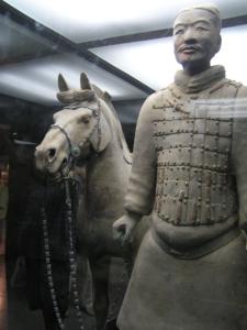 Πήλινος στρατιώτης, Μαυσωλείο του αυτοκράτορα Κιν, 210 π.Χ.