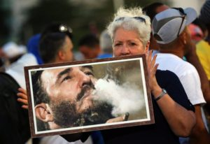Cubans gather at Havana's Plaza of the Revolution to bid farewell to Fidel